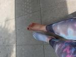 Schöne Füße von Hübscher Blondine