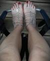 Geschmückte Füße